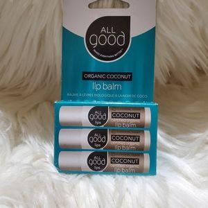 🌸5 /$25 All Good organic lip balm (coconut)